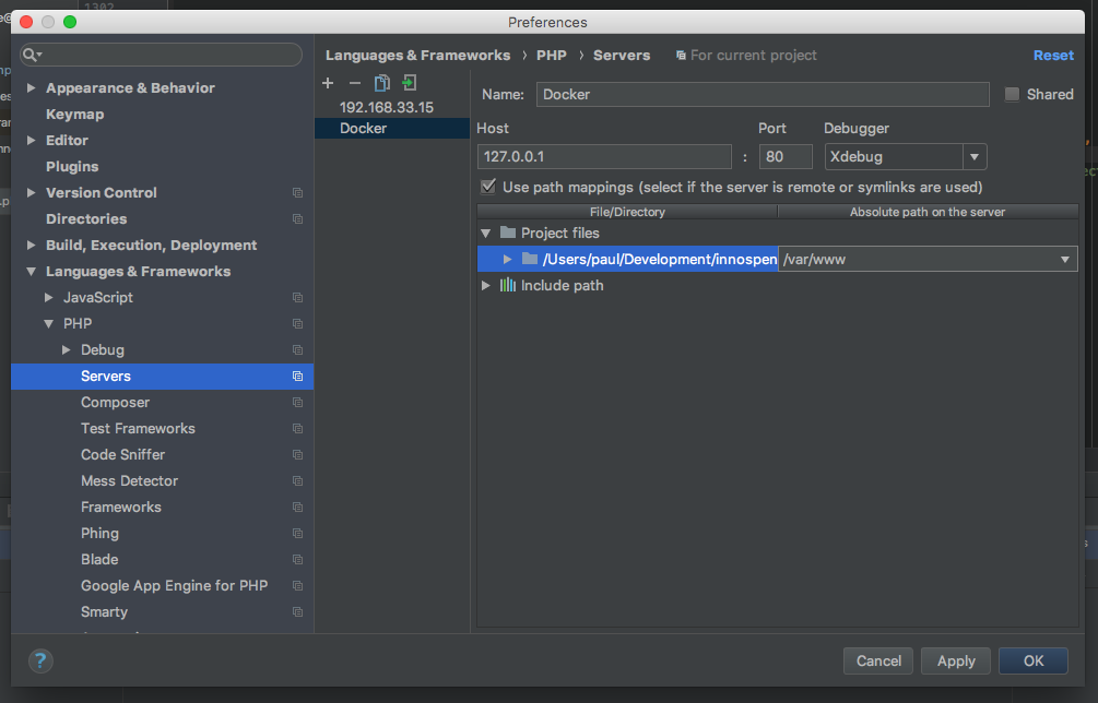 XDebug for PHPUnit in Docker with PHPStorm