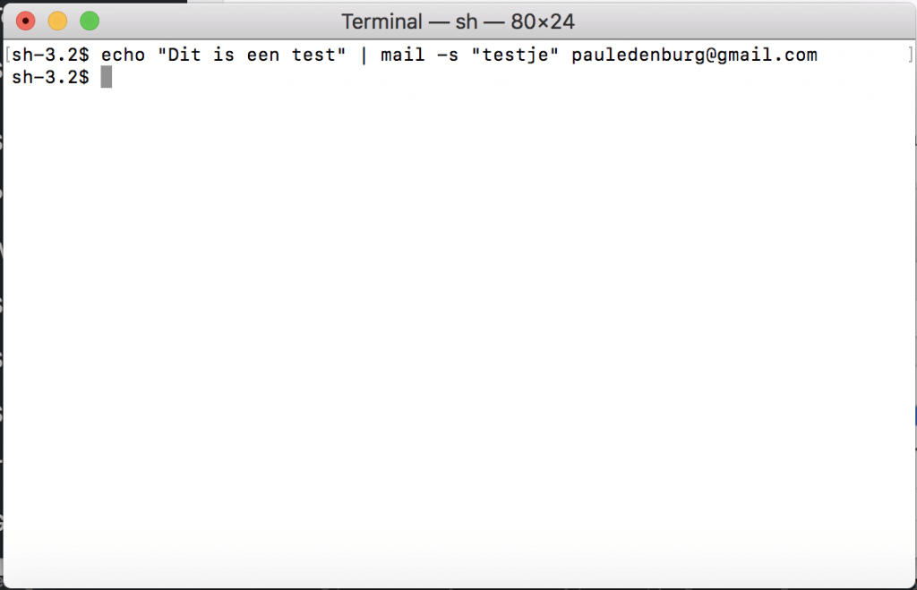 test mail from terminal