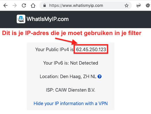Je huidige IP-adres opzoeken